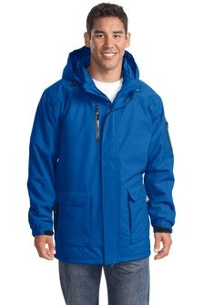 Port Authority Men's Big Heavyweight Parka Outerwear, Royal, Large