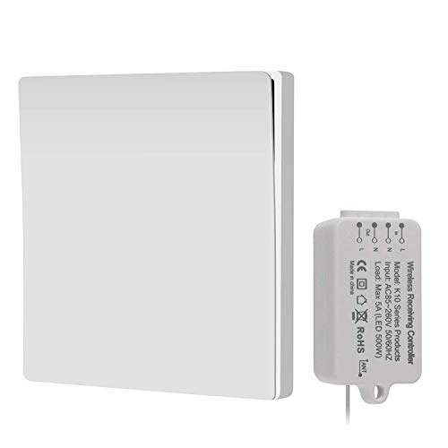 Wireless Switch,Wireless Light Switch,No Battery No Wiring, Quick Create or Relocate On/off Switches for Lamps Fans Appliances, Self-Powered Switch Remote Control House Lighting,White