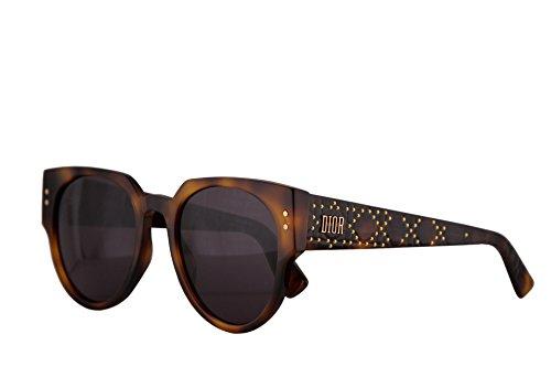 Dior Sunglasses Grey Lens - Christian Dior LadyDiorStuds3 Sunglasses Dark Havana w/Grey Lens 52mm 086UR LadyDiorStuds3/S Ladydiorstuds3 Lady Dior Studs 3 LadyDiorStuds 3