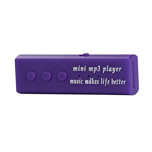 Juice Box Module (ZYooh Mini USB Clip Digital Mp3,Fashion Music Player Support 16GB SD TF Card Easy to Clip-on Purple)