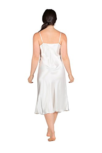 TexereSilk Women's Silk Nightgown Robe Set (Natural White, X-Small) Popular Gifts for Women WS0601-NWH-XS by TexereSilk (Image #4)