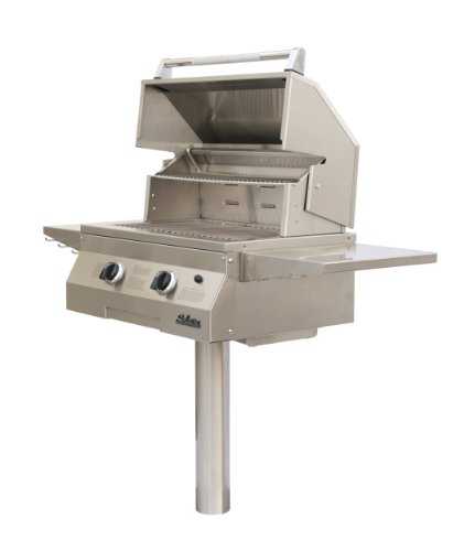 Solaire 27-Inch Basic Infrared Natural Gas In-Ground Post Grill, Stainless Steel