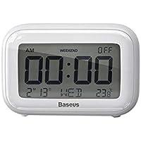 Baseus Subai Clock Digital Göstergeli Alarm Saat Gece Lambası BEYAZ