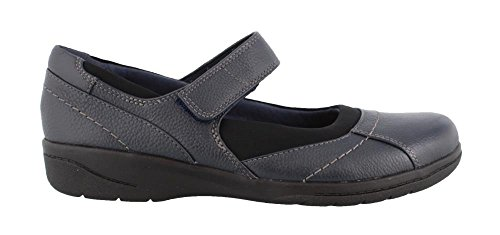 Clarks Women's Cheyn Web Mary Jane Flat, Navy Tumbled, 9 M (Navy Tumbled Leather)