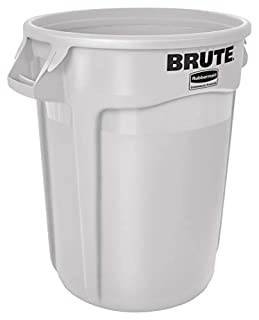 Rubbermaid Commercial FG263200WHT Brute LLDPE Heavy-Duty Trash Can without Lid, 32-gallon, White (B00RD9EV60) | Amazon price tracker / tracking, Amazon price history charts, Amazon price watches, Amazon price drop alerts