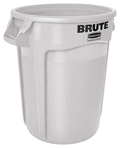 Rubbermaid Commercial BRUTE Trash Can, 32 Gallon, White, FG263200WHT (Rubbermaid 32 Brute)