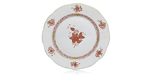- Herend Chinese Bouquet Rust (Aog) Luncheon Plate