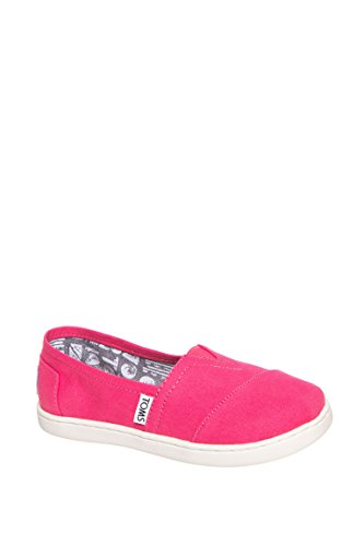 TOMS Girls Classic Canvas Flat - Barberry Pink