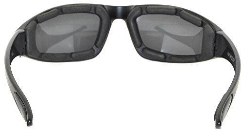 Black Motorcycle Padded Foam Glasses Smoke Lens for Outdoor Activity Sport OWL by OWL (Image #3)