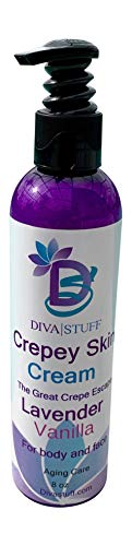 Crepey Skin Body & Face Cream With Hyaluronic Acid, Alpha Hydroxy and More (Lavender Vanilla)