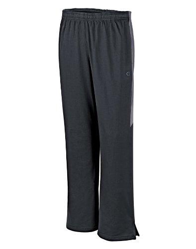 Champion Men's Powertrain Knit Training Pant, Black/Slate Grey, Small