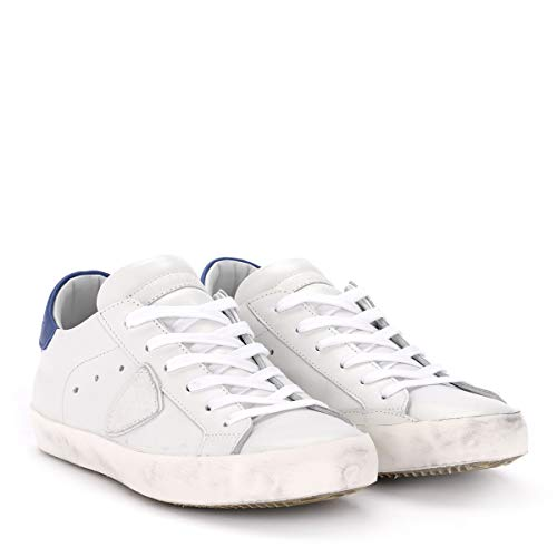 Paris Bianca Philippe Model Pelle Bianco In E Sneaker Bluette FOgzRqP