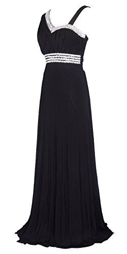 Maternity Black Bridesmaid Dress - Licoco Women Sleeveless Beaded Semi-Formal Long Maxi Evening Gown Wedding Dress (Black37, XXL)
