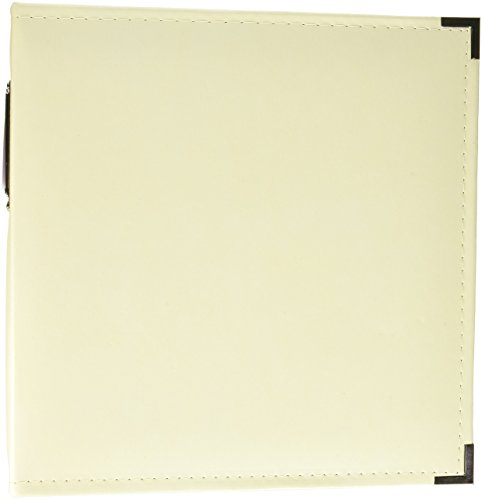We R Memory Keepers 8.5 x 11-inch Classic Leather 3-Ring Album Vanilla, Includes 5 Page Protectors ()