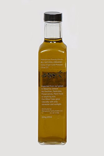 Petropoulos Family Groves All Natural Organic Authentic Extra Virgin Greek Olive Oil 250ml (1 (Olive Oil 250ml Bottle)
