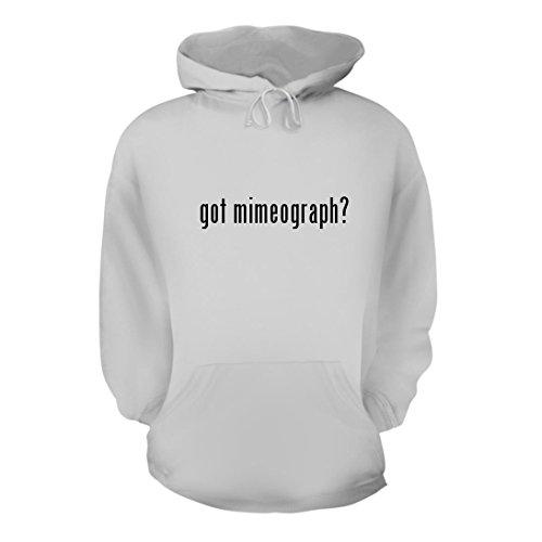 got mimeograph? - A Nice Men's Hoodie Hooded Sweatshirt, White, Large