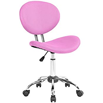 Captivating MODERN Armless Adjustable Computer Mesh Office Desk Chair Pink