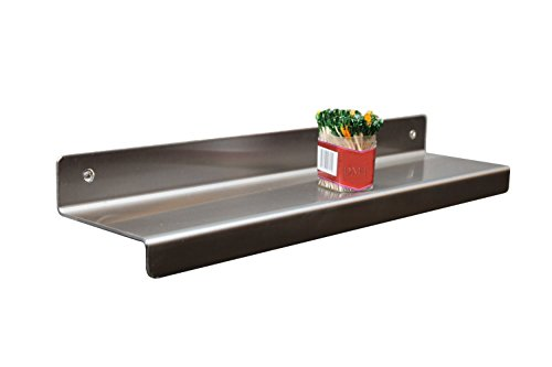 DMT Stainless Floating Reversible Shelf. 18'' Wide X 4'' Deep. Made in USA. Stainless Alloy : 304L (18-8) by DMT Stainless LLC. (Image #1)
