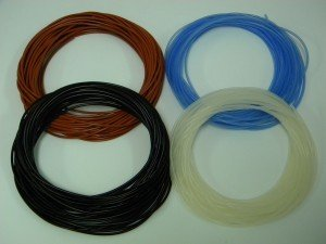 Peroxide Cured Colored Silicone Tubing - Natural/0.313