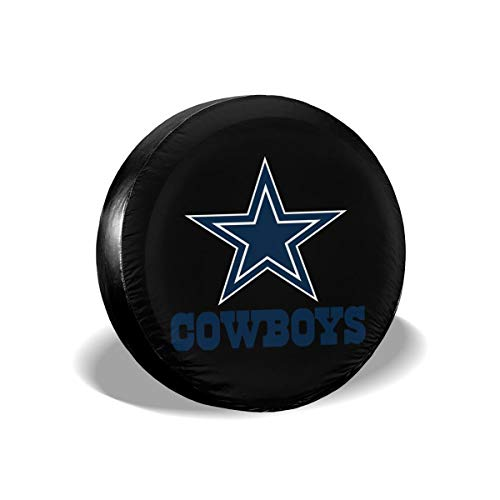 (MamaTina Design Waterproof Tire Cover Dallas Cowboys American Football Team Unisex Spare Tire Cover for Jeep Trailer RV SUV and Many Vehicle)