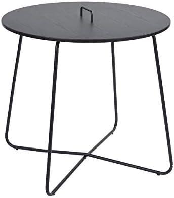 ata Home - Mesa de Comedor Redonda de 80 x 80 x 75 cm, Color Negro ...