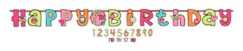 amscan Add-an-Age Letter Banner | Hippie Chick Collection | Birthday