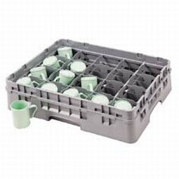 Cambro 20C258151 Camrack Polypropylene Cup Rack with 20 Compartments, Full, Soft ()