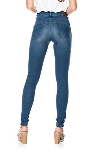 Femme Touch Taille Push In Secret Bleu SalsaPantalons Soft Haute rxdCeBo