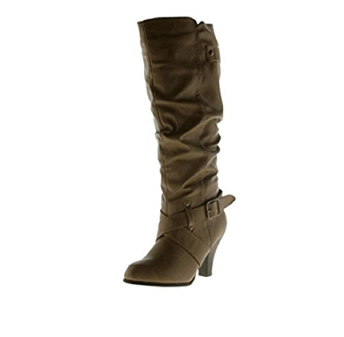 Exiter Shaft Boots Taupe Leather High Women's Rampage qwOxf5Cn