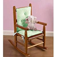 Heavenly Soft Childs Rocking Chair Cushion - color: Minky Celery (Cushion only)