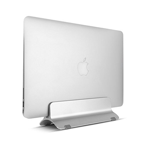 Tsumbay Vertical Laptop Stand Aluminum Desktop Docking Station Notebook Stand Compatible Apple MacBook Air/Pro Other Laptops/Notebooks/Tablets from 13'' to 15'', Silver by Tsumbay