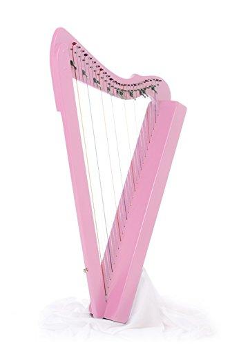 Harpsicle Harps FLATSICLE 26 String Lap Harp, Pink, Made in USA, Flatsicle Pink by Harpsicle Harps