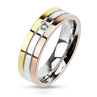 str-0017-6mm-stainless-steel-triple-tone-ip-grooved-single-cz-center-band-ring-comes-with-free-gift-
