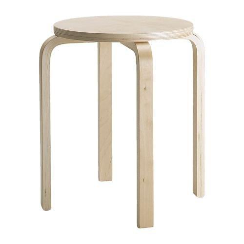 Ikea Taburete Contrachapado, Abedul, Marrón, 46x45x4 cm