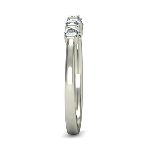 18K Or Blanc, 0,34carat Diamant Taille ronde (IJ | SI) en diamant