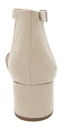 Sugar Women's Noelle Low Two Piece Block Heel Dress Shoe Ladies Ankle Strap Pump Sandal