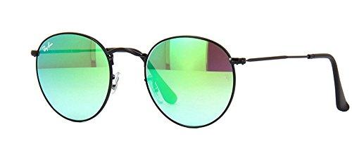 RB 3447 Sunglasses (Black Frame Mirror Blue Lens, Black Frame Mirror Blue - 3447 Rb