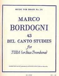 Bass Brass Tuba (43 Bel Canto Studies for Tuba (or Bass Trombone)(Music for Brass No. 281))