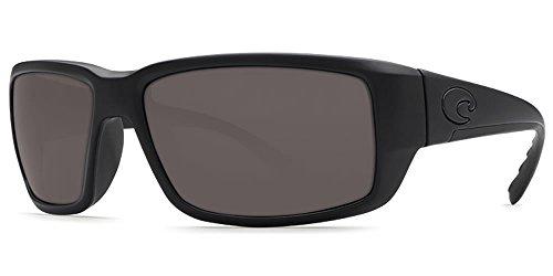 Lens Gray Plastic (Costa Del Mar Fantail Sunglasses, Blackout, Gray 580P Lens)