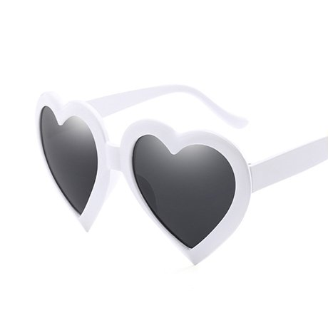 Gift Rosa Love de sol Mujeres Gafas Heart Gafas Shape Beige de Rosa mujeres sol GGSSYY Eye Vintage para Red Heart Negro 8xw1qf1