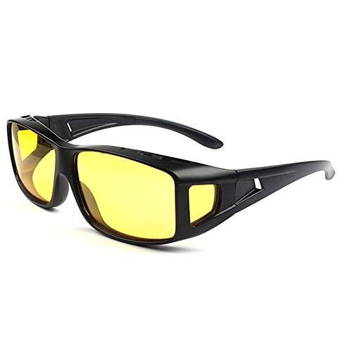 Night Driving Glasses, Polarized Wrap Around Prescription Eyewear XGlasses (black - Eyewear Around Wrap