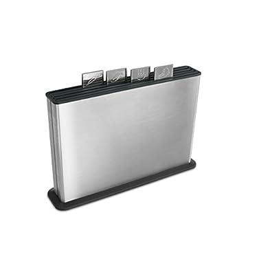 Joseph Joseph Index Chopping Board Set in Steel Case - Black