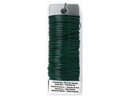 Set of 2 Darice Paddle Wire, 22-Gauge, Green]()