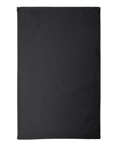 Towels Plus by Anvil Deluxe Hemmed Hand Towel (T680)-Black,One Size