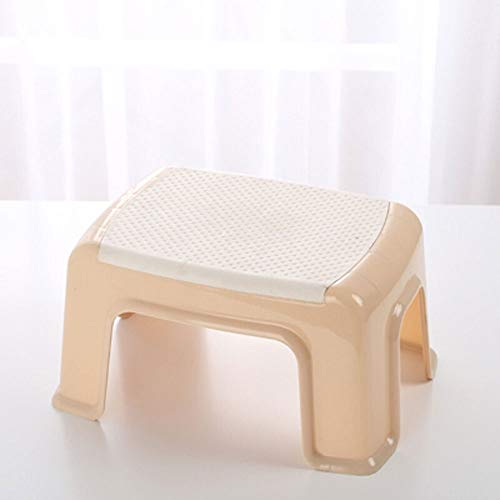 (Paddia Plastic Small Plastic Stool Portable Footstool for Kitchen Bathroom Toilet Caravan for Children Adult Non Slip Kids Bathroom Booster Step Stool Compact Stool Easy to Store Kitchen Or Bathroom)