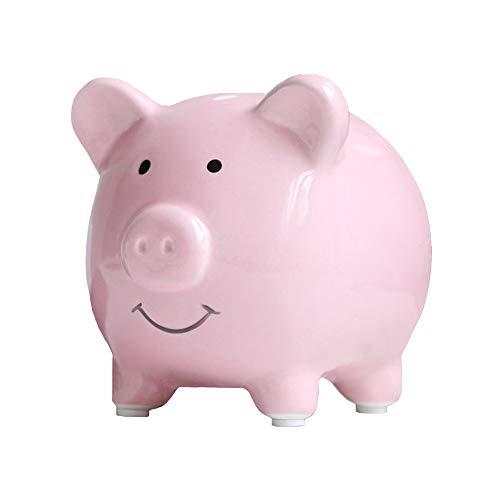 Geelyda Ceramic Piggy Bank, Mini Small Cute Piggy Banks, Saving Piggy Banks Perfect Unique Gift Keepsake for Kids, Pink (To Piggy Break Bank Open)