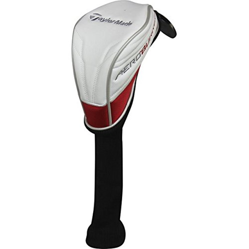- Taylor Made Aeroburner Fairway Wood Headcover (White/Red) Golf Cover
