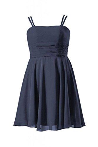 Dress navy BM909 W Party 35 Short Knee DaisyFormals Dress Chiffon Bridesmaid Length Straps c8O0Wpv71F