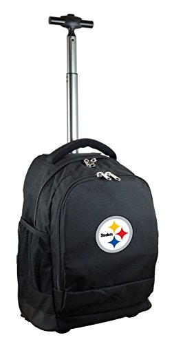NFL Pittsburgh Steelers Expedition Wheeled Backpack, 19-inches, Black
