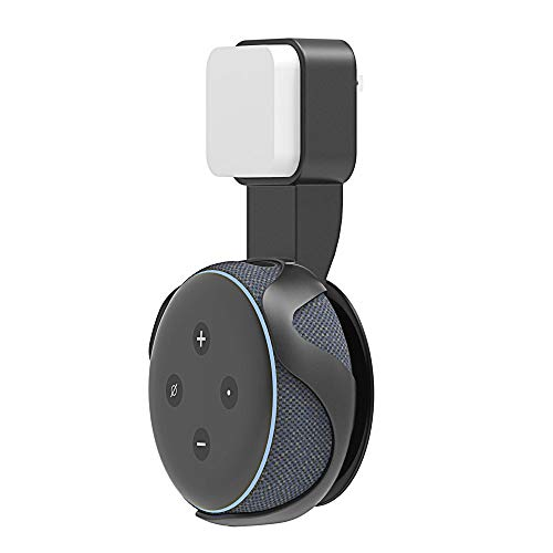 MMRM Soft Contact Wall Mount Hanger Holder Stand with the Charging Head Bracket For Amazon Echo Dot (3rd Gen) Speaker…